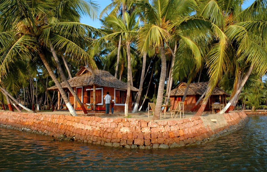 Private island along the backwaters of North Kerala