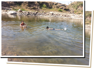 Swimming and Picnic at the river