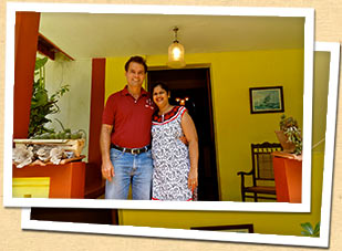 Roberto & Raquel, hosts at their Goan-Portuguese home in Aldona