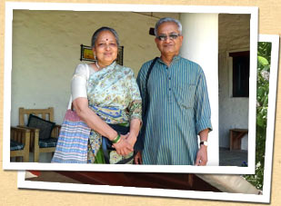Pradeep & Shubha, hosts at The Dak Bungalow at Peora