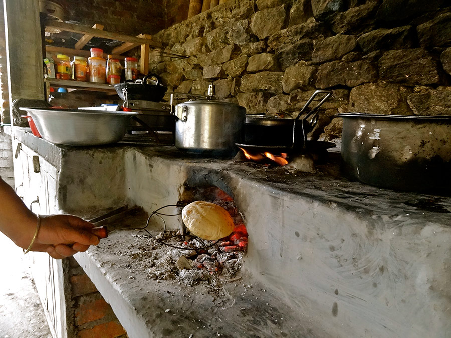 Cooking in traditional style