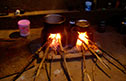 Listen to folk tales over night cooking and bonfires
