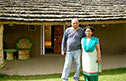 Owners of the farm, Mr and Mrs Modi